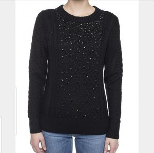 NWT Michael Kors Embellished Braided Sweater